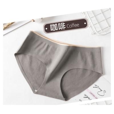 抗菌石墨烯純棉中腰內褲-咖啡