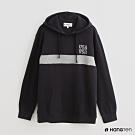 Hang Ten - 男裝 - 純色色塊拼接條紋長袖帽T - 藍