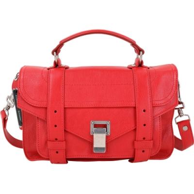 PROENZA SCHOULER PS1 Tiny 小型 羊皮兩用包(鮮紅色)