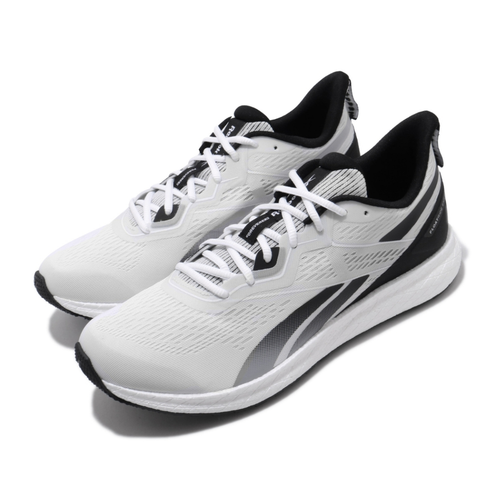 Reebok 慢跑鞋 Forever Floatride 男鞋  輕量 透氣 舒適 避震 路跑 健身 白 黑 EH1704
