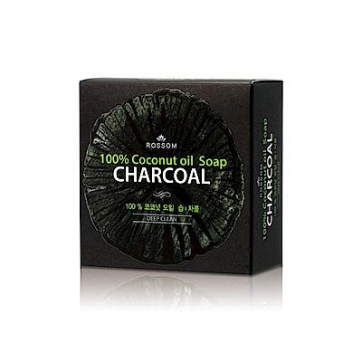 韓國ROSSOM-100%椰子油竹炭去角質控油美顏皂100g
