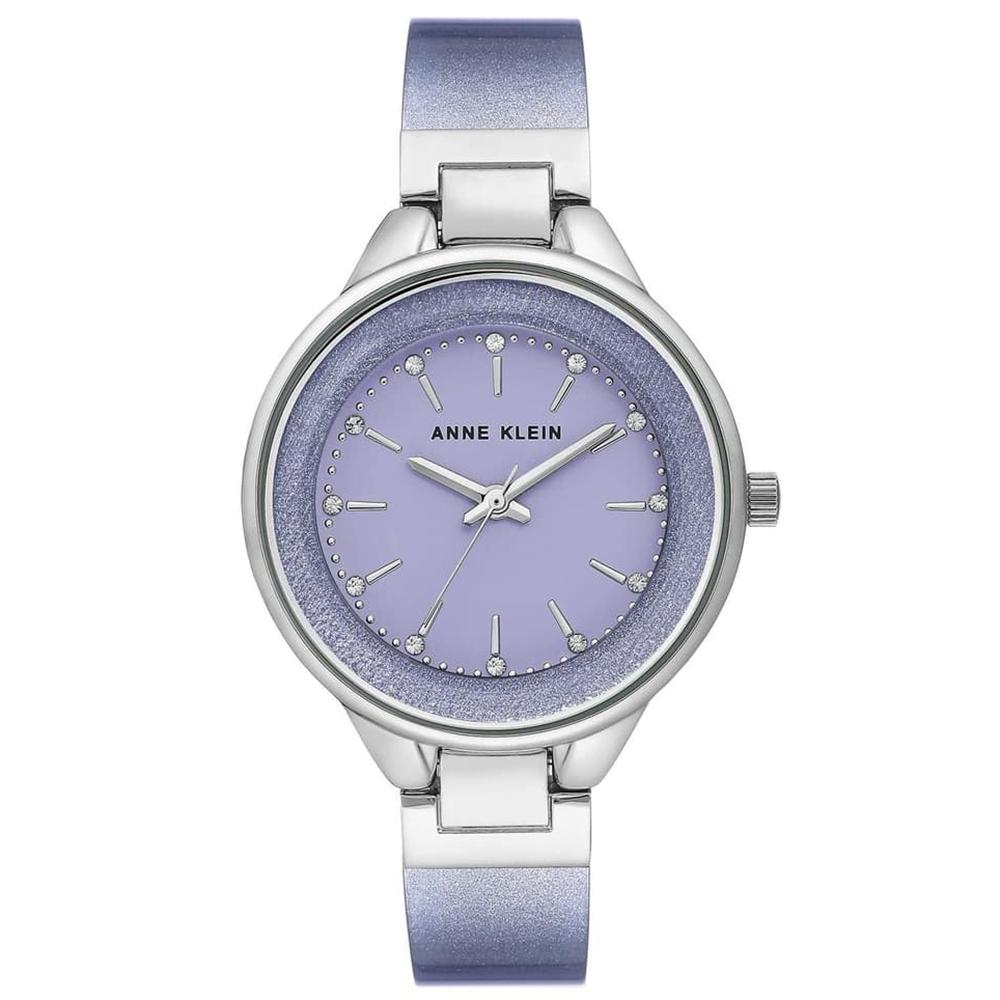 Anne Klein 夢幻星光璀璨銀河系玻麗腕錶-薰衣草紫x36mm