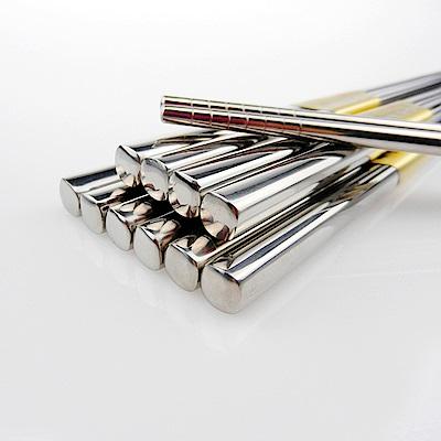 [買一送一]佶之屋 304不鏽鋼半手工方形筷5雙( 長23.5cm)