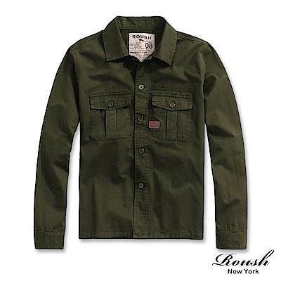 Roush 重磅洗水軍裝式襯衫外套(2色)