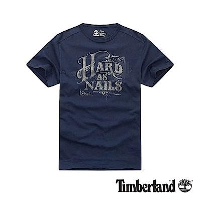 Timberland 男款藍色圓領短袖T恤|8351J