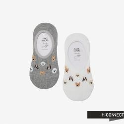 H:CONNECT 韓國品牌 配件 -可愛狗狗隱形襪組