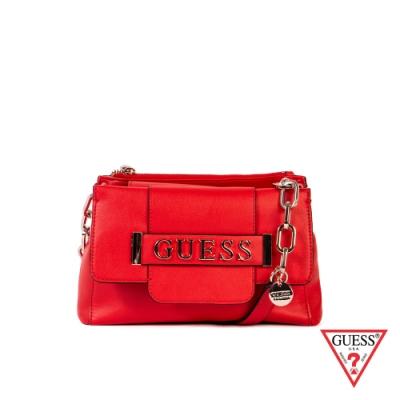 GUESS-女包-時尚都會鍊條肩背包-紅