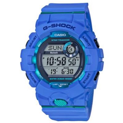 G-SHOCK百搭玩色風格運動計步藍芽錶(GBD-800-2)藍/54.1mm