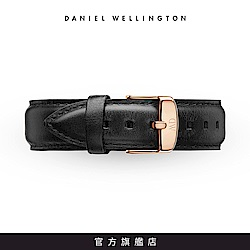 DW 錶帶 18mm金扣 爵士黑真皮皮革錶帶