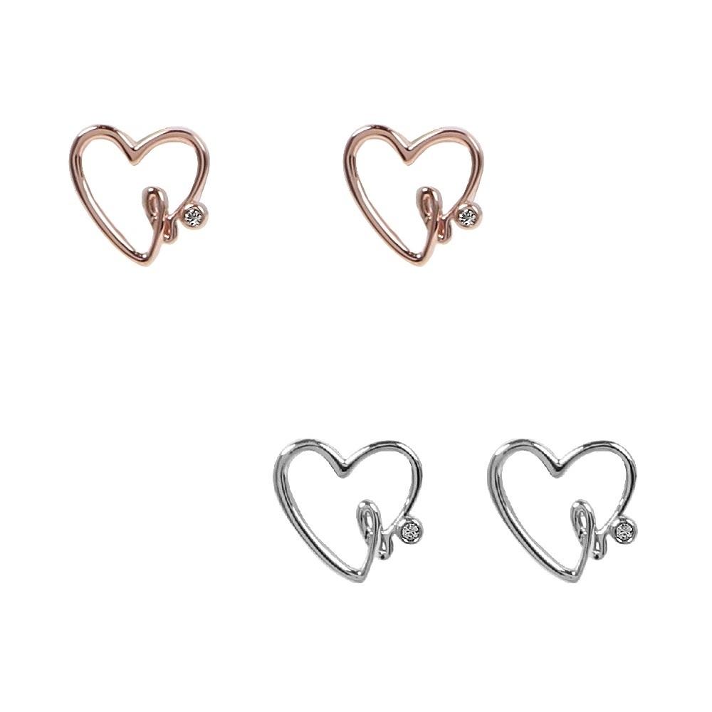 agnes b. heart b. logo女性純銀耳環(兩色)