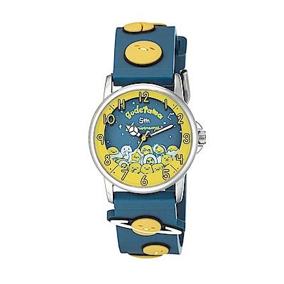 Gudetama 蛋黃哥 五週年紀念手錶 藍/32mm