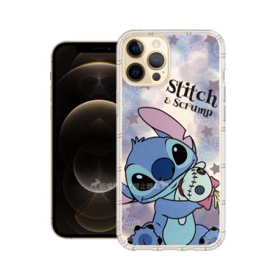 迪士尼授權正版 iPhone 12 Pro Max 6.7吋 繽紛空壓安全手機殼(史迪奇)