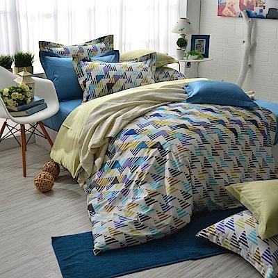 IN HOUSE-Sweden street-300織精梳棉-四件式薄被套床包組(加大)