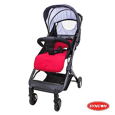 SYNCON輕巧折疊嬰兒手推車紅色