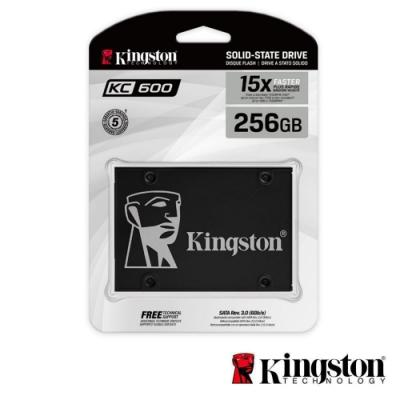 金士頓 KC600 SATA-3 256GB SSD 固態硬碟 (SKC600/256G)