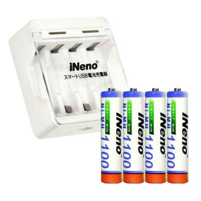 iNeno 401四槽充電器附4號鎳氫充電電池4入