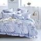 BUTTERFLY-MIT-3M專利+頂級天絲-雙人薄床包組-夏日庭榭-藍 product thumbnail 1