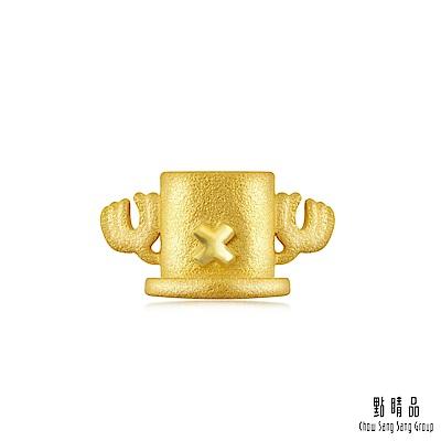 點睛品 航海王One Piece 喬巴的帽子 黃金耳環(單只)