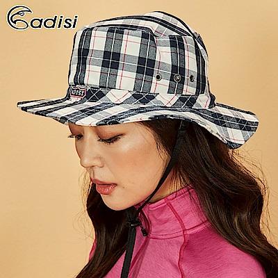 ADISI 格紋速乾保暖牛仔盤帽AS18067【米深棕】