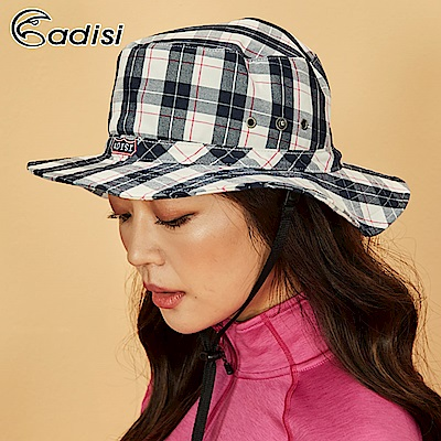 ADISI 格紋速乾保暖牛仔盤帽AS18067【米桃】