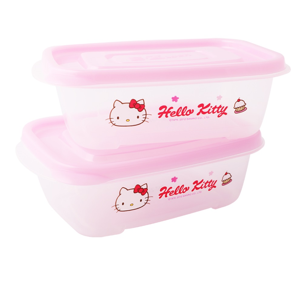 樂扣樂扣HELLO KITTY EZ Lock PP保鮮盒520ML-二入組(快)