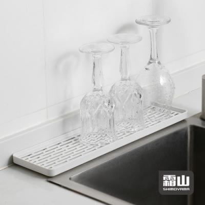 日本霜山 多功能廚具碗盤雙層瀝水盤/托盤-窄型 (牙刷杯盤/肥皂盤/廚房浴室通用)