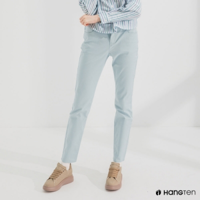Hang Ten-女裝-SLIM FIT五袋款長褲-淺藍色