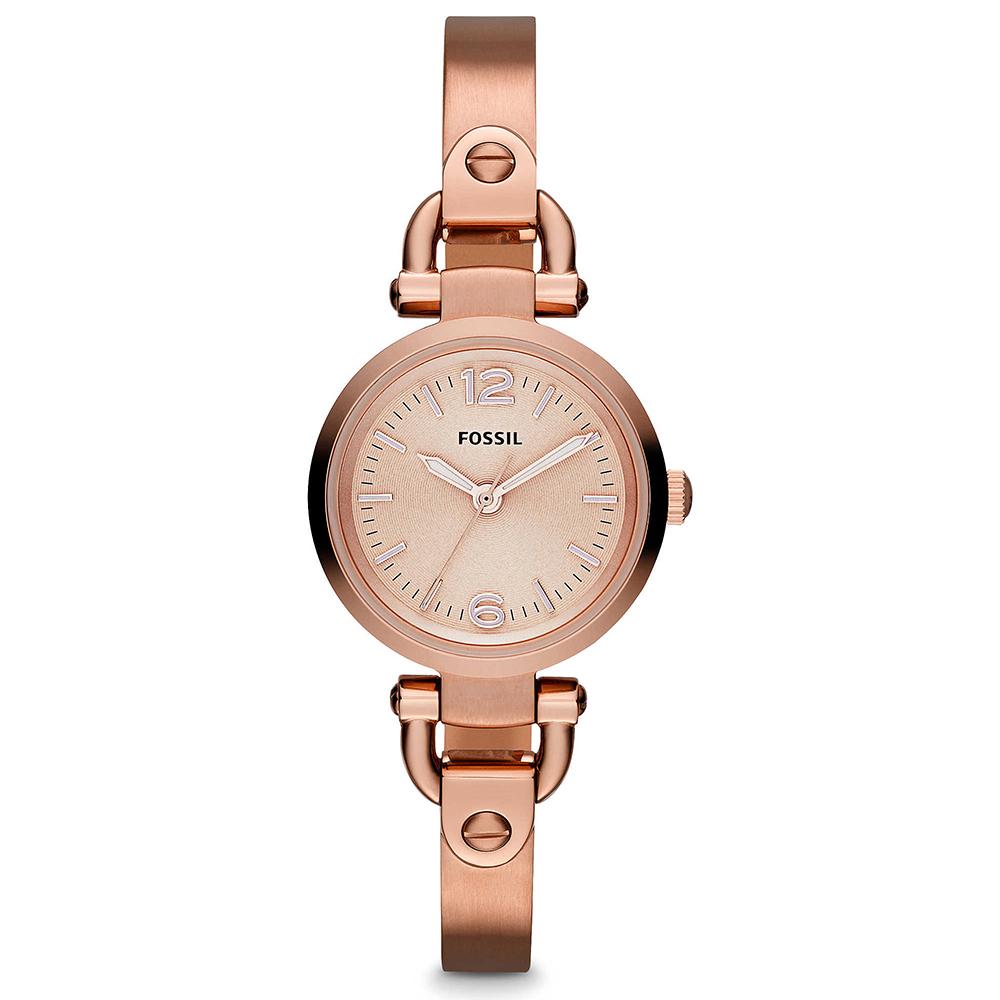 FOSSIL 纖纖小手時尚小錶徑手環女錶(ES3268)-玫塊金/26mm