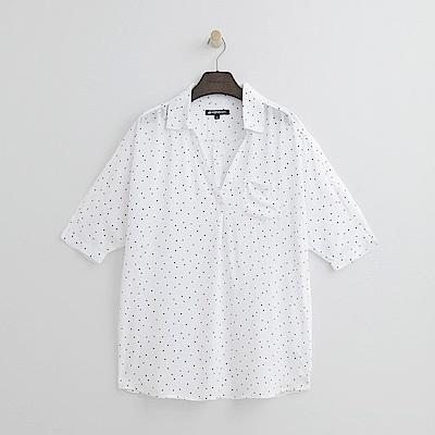 Hang Ten - 女裝 - 立領簡約襯衫-白色