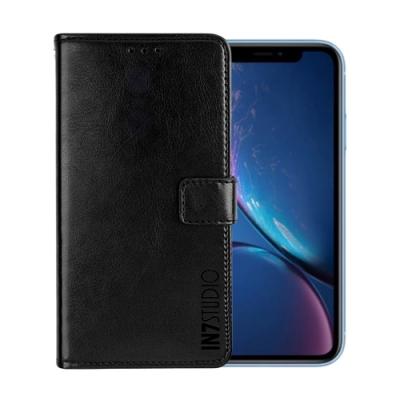 IN7 瘋馬紋 iPhone XR (6.1吋) 錢包式 磁扣側掀PU皮套 吊飾孔 手機皮套保護殼