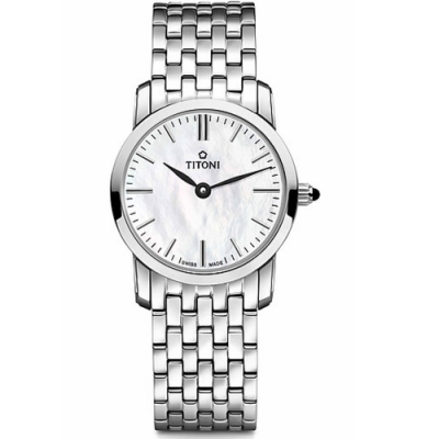 TITONI梅花錶纖薄系列優雅女錶(TQ 42918 S-587)