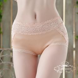 內褲 滾邊蕾絲微透性感小褲-膚 La Queen