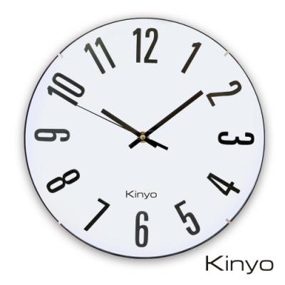 KINYO拱型立體字掛鐘