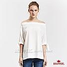 BRAPPERS 女款 平肩綁帶雪紡襯衫-米白
