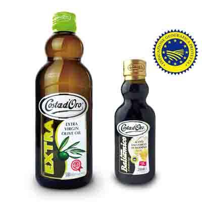 Costa dOro高士達 橄欖油+巴薩米克醋禮盒(500ml+250ml)