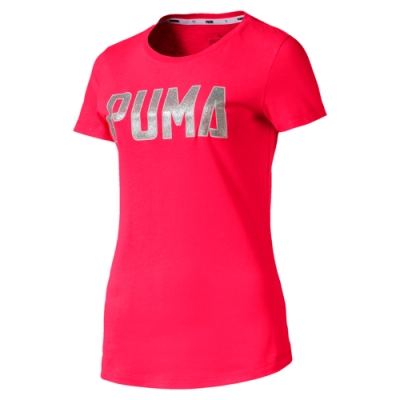 [時時樂限定]PUMA-女性基本系列Athletics 短袖T恤-亞規-共2色