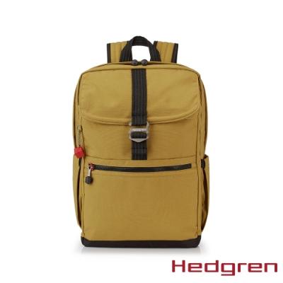 【Hedgren】GREAT綠色循環 RFID後背包-蜜黃
