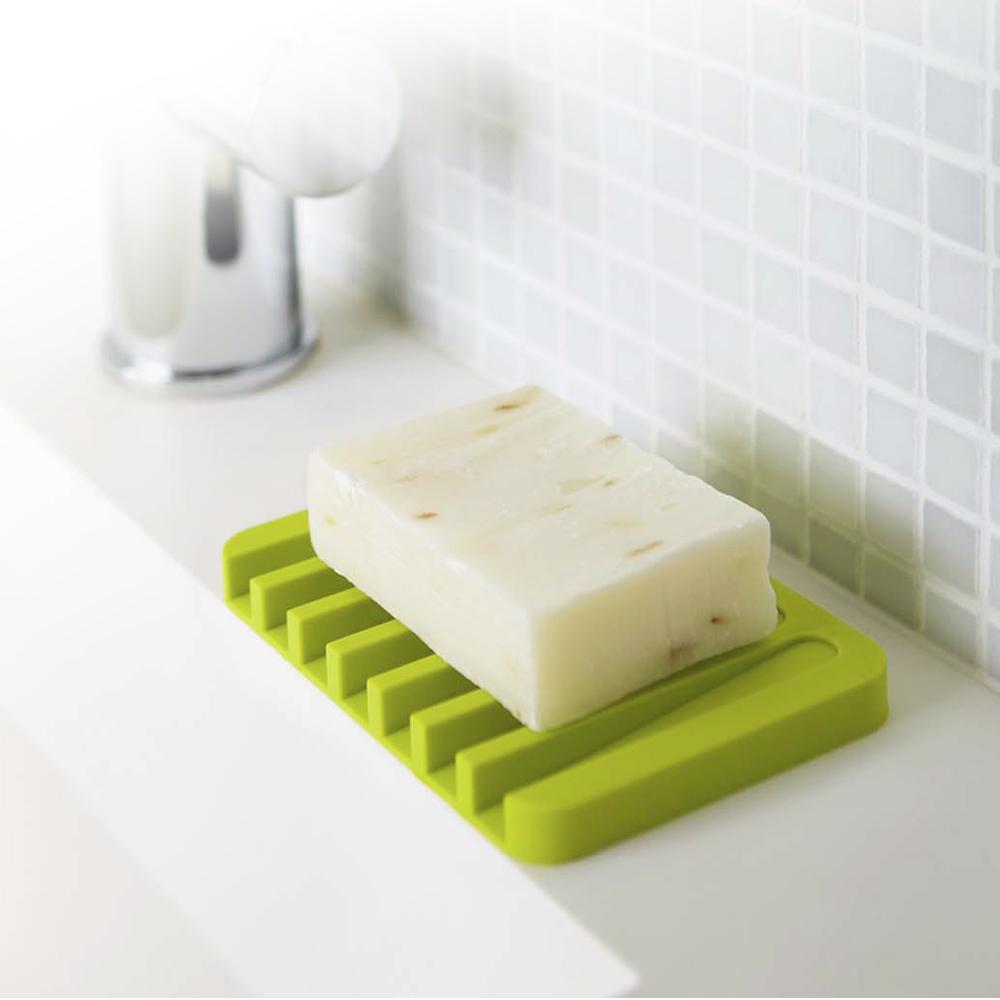 日本【YAMAZAKI】Flow斷水流肥皂架-綠★浴室收納/衛浴收納/肥皂盤/肥皂