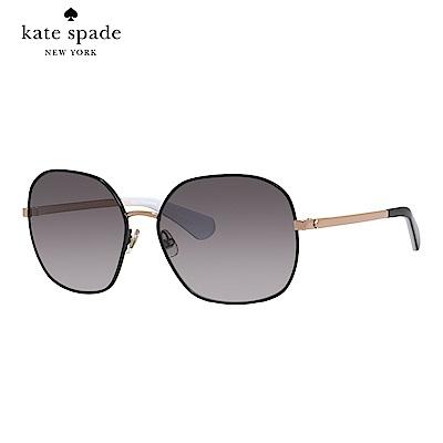 Kate Spade CRELISA/S-時尚方框太陽眼鏡 黑色