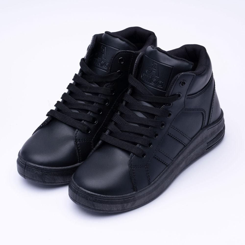 艾樂跑 Arriba 女鞋 AB-8066 內增高中筒休閒鞋 板鞋 -黑