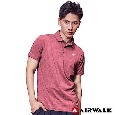 【AIRWALK】男款POLO衫-麻紅