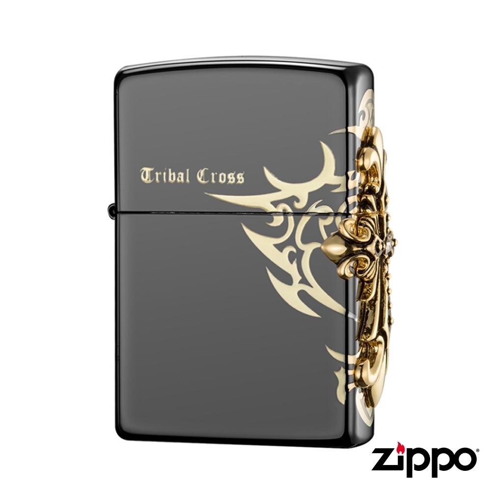 美系Zippo 十字圖騰TRIBAL CROSS-浮雕防風打火機#ZA-1-33a