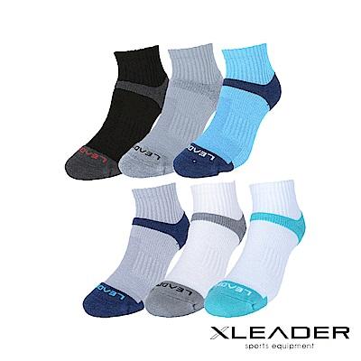 LEADER COOLMAX除臭機能運動襪 男款 買5送3 顏色隨機