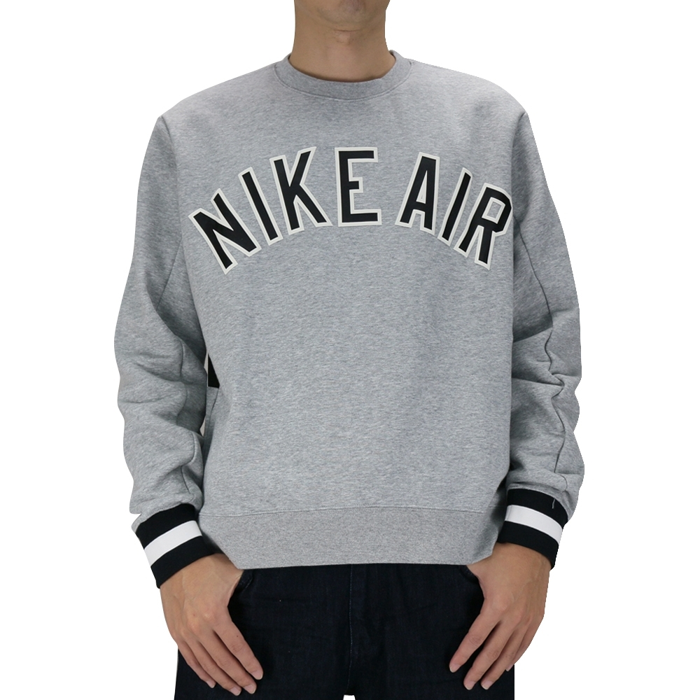Nike AS M NSW NIKE AIR CREW FLC 男長袖上衣 灰-AR1823063