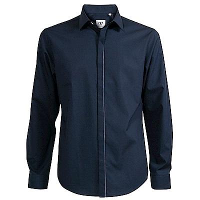 CR7-隱藏式鈕扣襯衫-黑(8720-72000-49)
