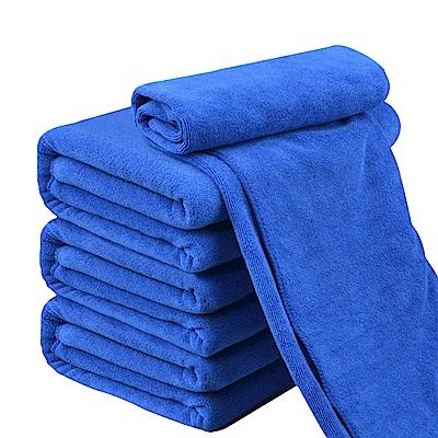 車的背包 超細纖維擦車長布(60X160公分加厚磨絨款擦拭巾)藍色