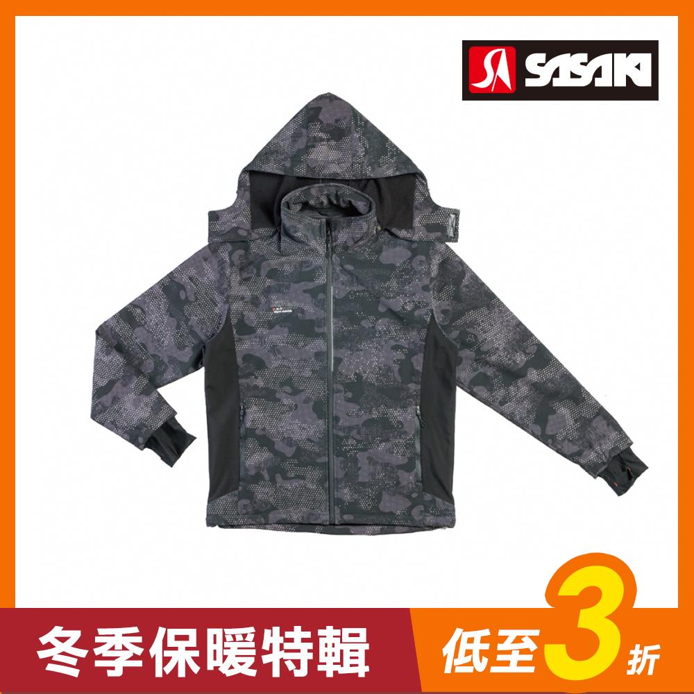 SASAKI 四面彈力防水透濕反光功能夾克-男-炭墨灰/太空灰