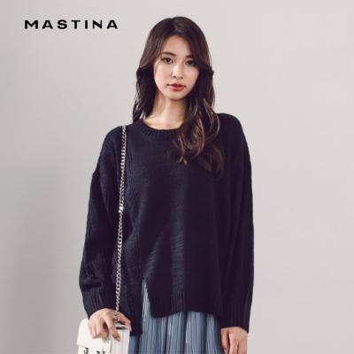 【MASTINA】MIT製 衣擺開衩-針織衫(三色)