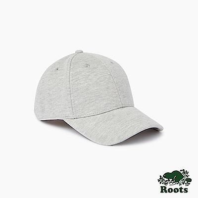 Roots配件- 經典素面棒球帽-灰色