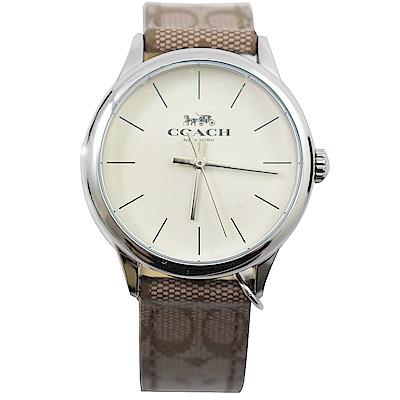 COACH 簡約造型經典LOGO時尚手錶
